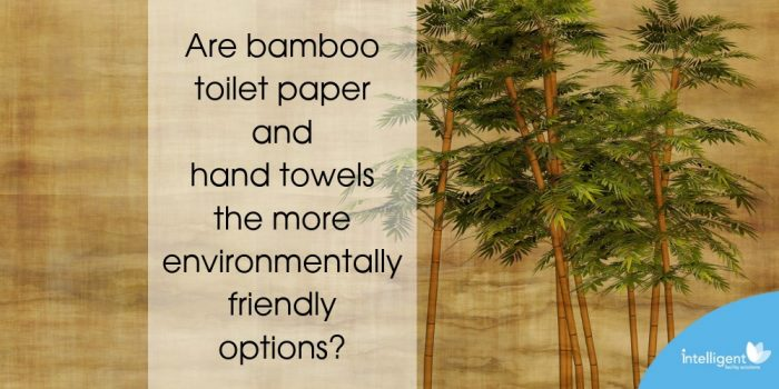 Are Bamboo toilet paper and hand towels the more environmentally friendly