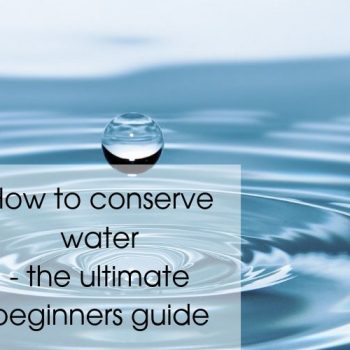 How to conserve water - the ultimate beginners guide